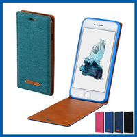 C&T Luxury PU Leather Up-Down Open Vertical Flip Folio Carrying Protective Shell Case Cover for iPhone 6 / 6S