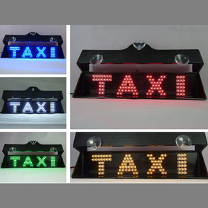 Taxi Front Window Suction Cup Mounting Adjustable Brackets RED And Green TAXI LED Tag