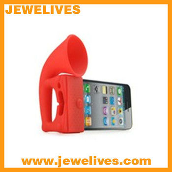 New Design Silicone speaker horn for iphone
