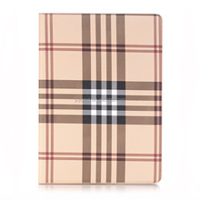 Factory custom Universal cross pattern leather smart cover stand flip case for ipad pro 12.9 generation 1 and generation 2