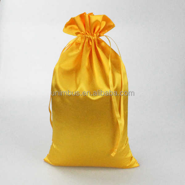 satin wedding gift pouch bag with logo and drawstring bag