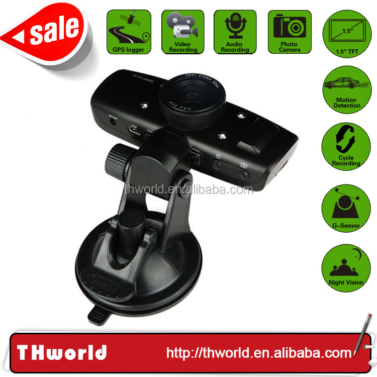 12.0MP camera hd 1080P two camera auto dvr camcorder with gps and g-sensor