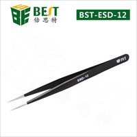 BEST-ESD-12 Precision fine point tweezers for mobile phone