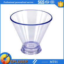 plastic drinking glass 3oz plastic clear beer pong cracks cup
