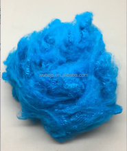 virgin colorful dope dyed synthetic polyester staple fiber for knitting and weaving