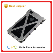[UPO] Luxury Armor King Stainless Steel Iron Man Metal aluminum Phone Case for iPhone 4