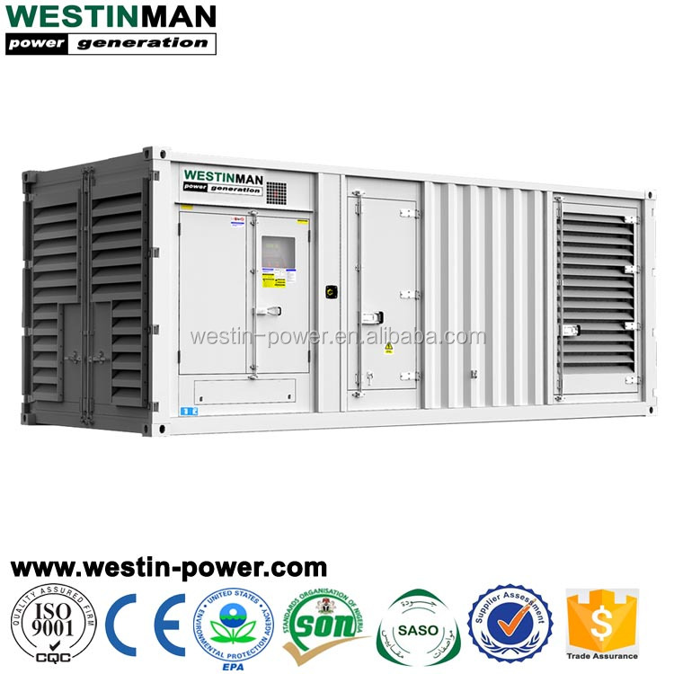 AC Synchronization 900kva 720kw Perkins Engine Diesel Generator Canopy Type Set for Reefer Container