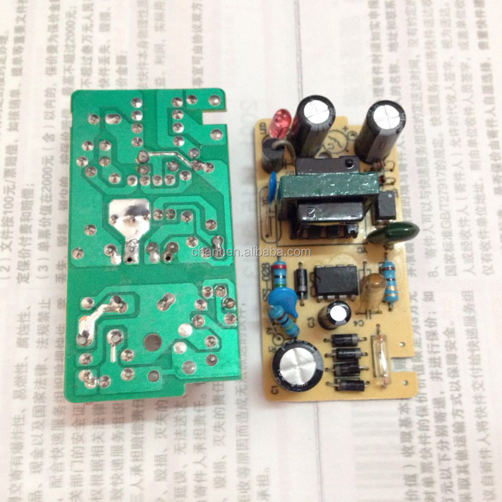 High-quality custom 5 v 1000ma AC/DC power supply panel printed electronic circuit board