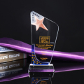 Promotional fashion clear acrylic k9 3d laser crystal trophy