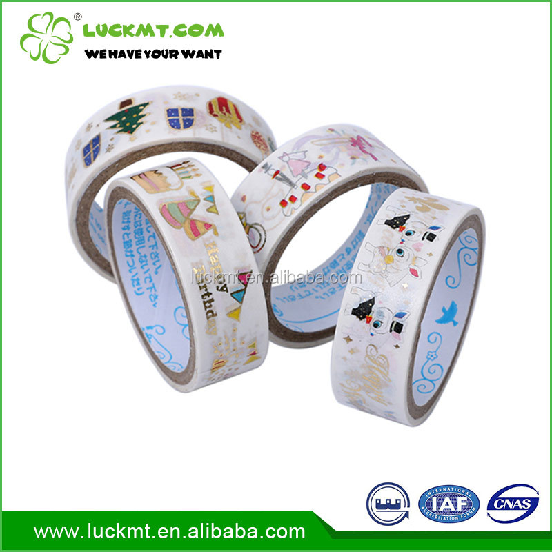 Custom colorful cute washi packing tape for child stationery