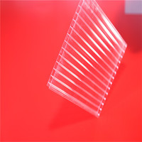 32- 38mm 8 Wall Polycarbonate Roofing Sheet Fabricator Solar Control/ Thick Polycarbonate Panel
