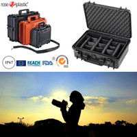 Hard durable solid big handheld portable container box plastik for auto spare parts LSR cameras with IP67 waterproof RC-PS 290/1