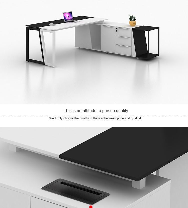 Moderne en forme de l de direction en bois mobilier de for Mobilier de bureau en bois