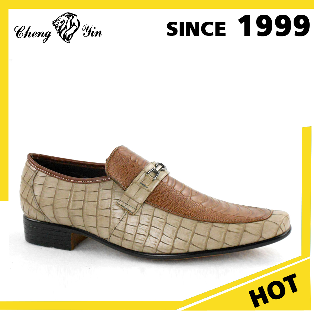 Wholesale Popular Crocodile Pu Party Men Dress Shoes Online