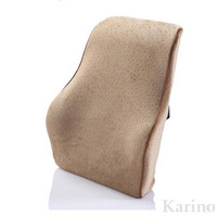 Memory Foam Waist Support Cushion, Big Size Office Backrest Support, Car Seat Cushion with Buckle