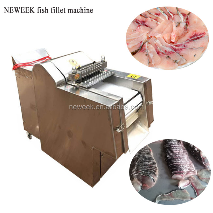 NEWEEK automatic 200-400kg/h chicken wing meat cutting frozen fish fillet machine