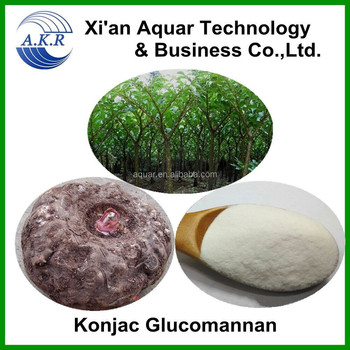 100% pure Glucomannan extract konjac powder 65%-95%