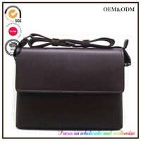 Factory Price Wholesale Handmade Custom Made Men's Leather Messenger Bag with Strap alibaba online shopping China