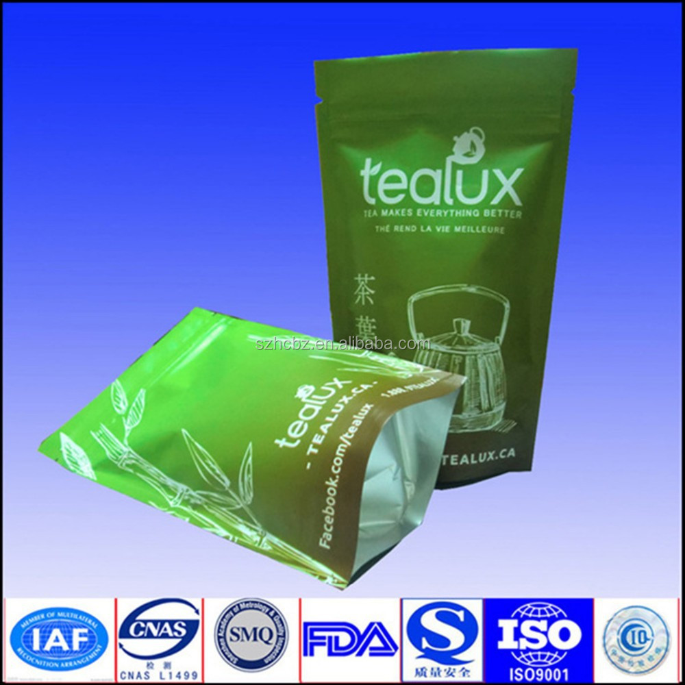 customized printed resealable plastic bags for tea packaging
