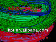 Waterproof multi color Welted el wire to make animated suits hoodies,shoelace,cap,shirt,hat,costume