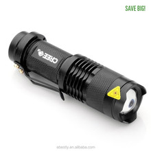 Mini Flashlight ZOOMABLE 7W Q5 1200lm ZOOM Tactical AA 14500 battery Flashlight Torch Lamp
