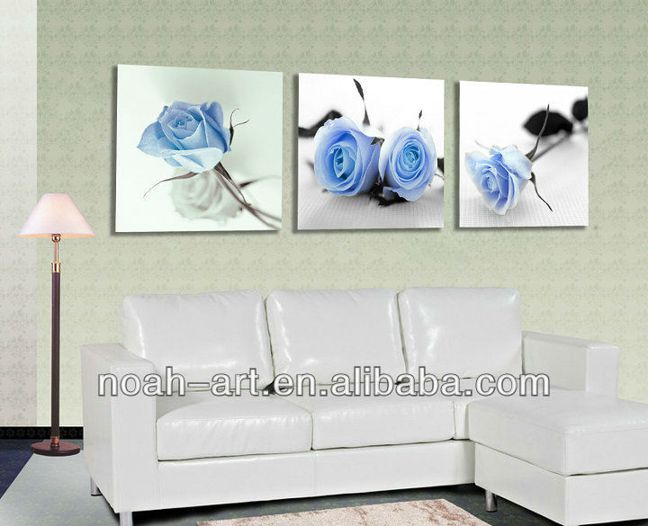 Flower printing oil painting for wall decor