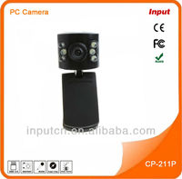 2013 Computer Webcam Factory High Quality USB 2.0 Web Camera with 6 LED Lights