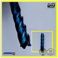 JINOO manufacture end mill cnc tungsten solid carbide double angle milling cutter 60
