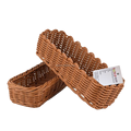 100% hand woven rattan customized colorful househould restaurant table storage small cutlery basket sets