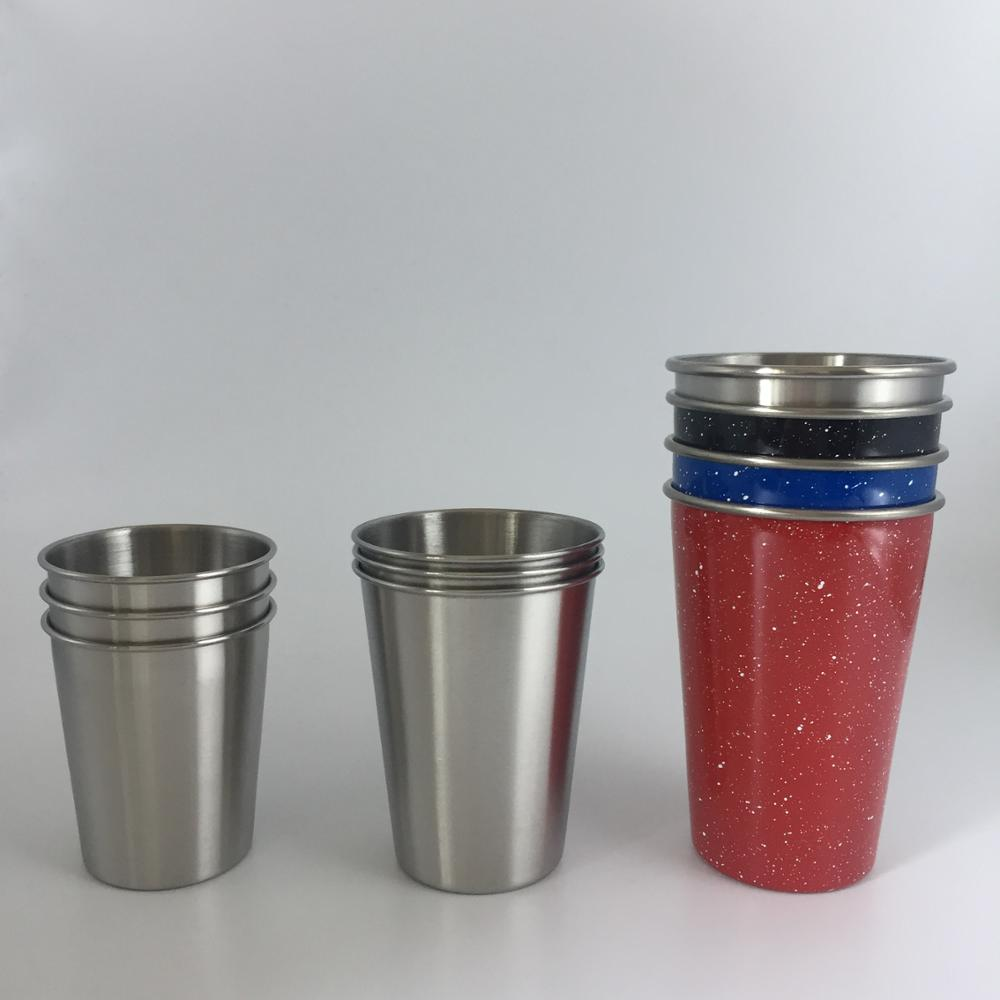 collapsible stainless steel metal color pint cup for drink beer or cola