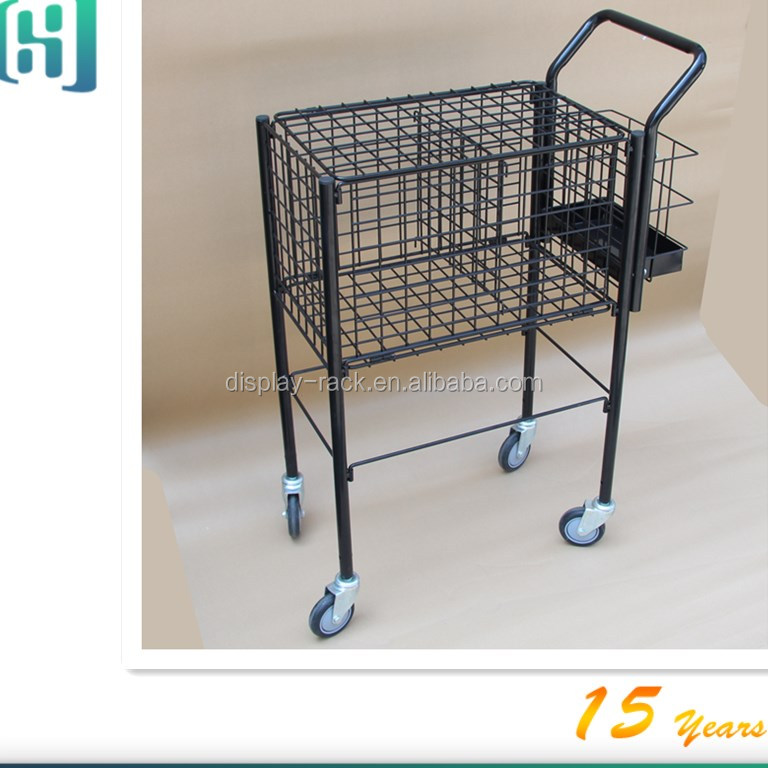 wholesale grocery store metal movable tennis ball cart HSX-S0305