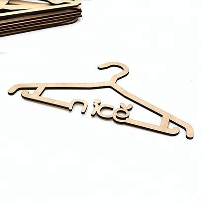 Laser Cut Wood Custom  antique wood coat hangers kids wood coat hanger