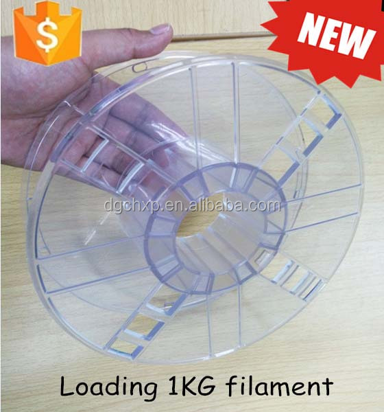 high transparent hollow design 3d filament spool