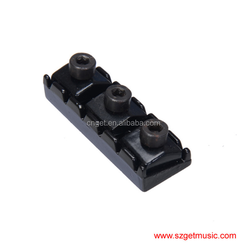 43mm Black Electric Guitar String Locking Nuts For Floyd Rose Tremolo Bridge