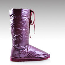 HC-144C Fashionable 2014 lace up water proof fabric faux fur lining EVA sole cheap tall ladies sexy winter boots