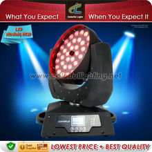 High Brightness 36pcs x 10w RGBW 4in1 LED Wash aura Moving head zoom light
