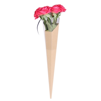Customized cardboard long single rose flower gift box