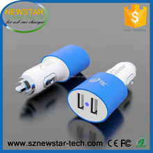 Intelligent output 2 ports 3.4A micro usb car charger for mobiles