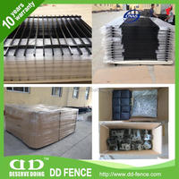 High security decorative steel fence panels / wrought iron gates/ black ornamental fence