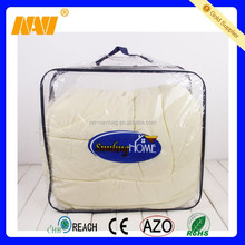 Durable customizable clear vinyl PVC zipper blanket bag wire bag