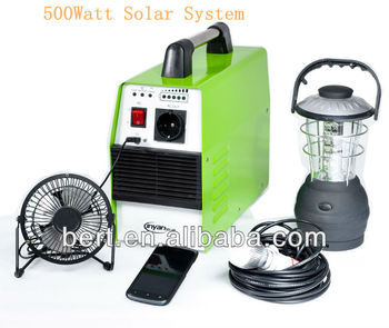 500watt Portable Solar system with CE&ROHS Approved ,Excellent qulity(BT500F)