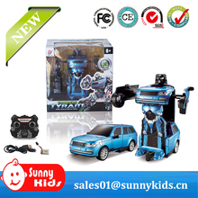 RC Transformation Toys one key remote control car action figures class Electronic car transform robot toy