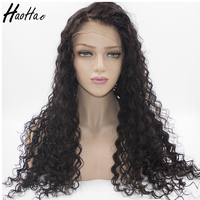 Big Stock 130% Density Unprocessed Virgin Brazilian Real Lace Front Wig Human Hair For Black Women