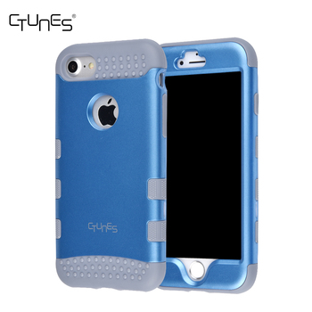 CTUNES Resistant Hybrid 3 Layer Fully Sealed 3 in 1 Armor Back Cover Case Hard Shell Shockproof Cover for iPhone 8