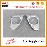 Hot selling chrome 2012 fortuner chrome front fogligt cover toyota fortuner accessories