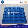 Long life span corrugated glazed roofing tile, galvanized sheet colored coated metal roofing tile
