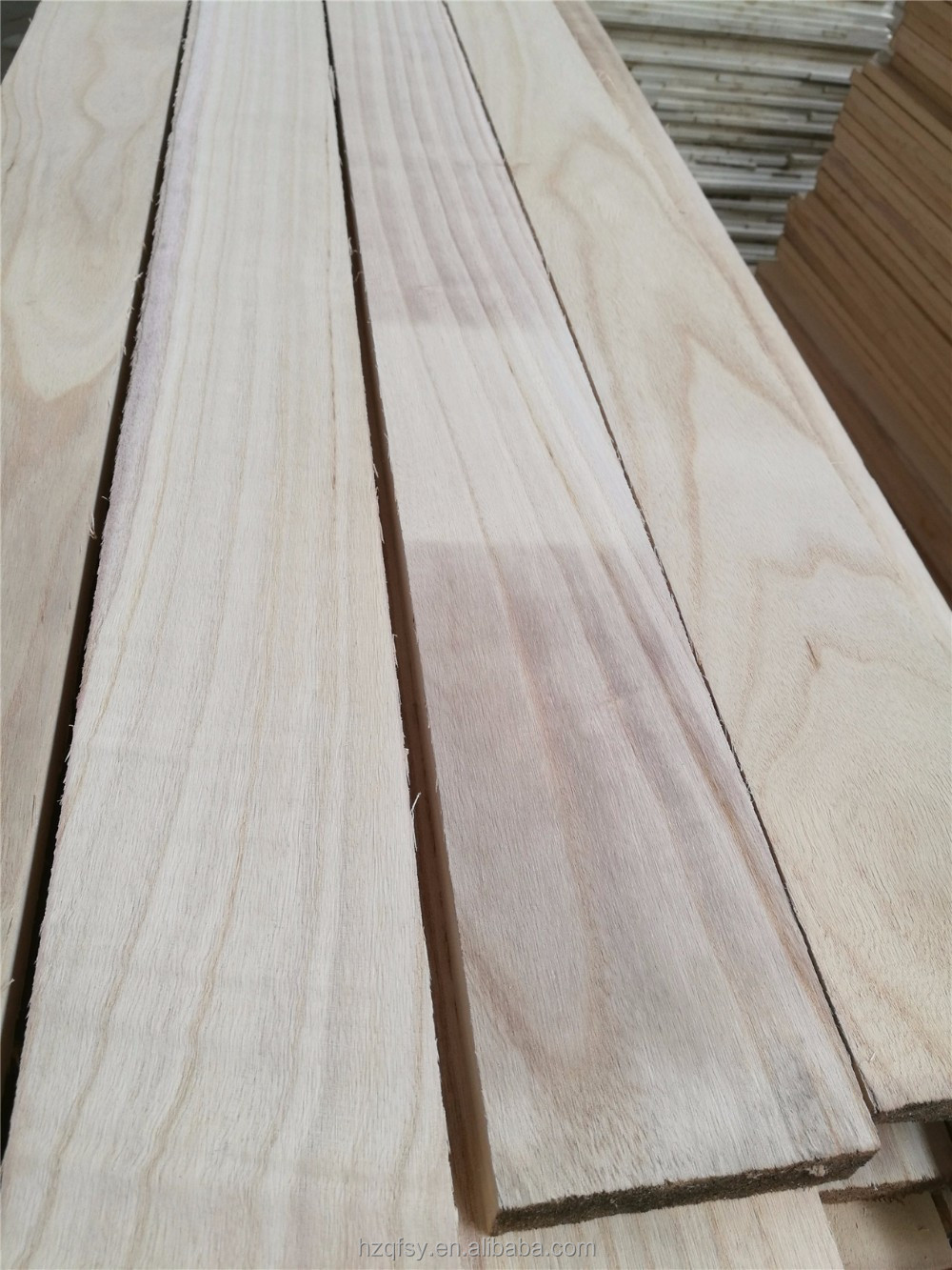 Solid wood paulownia finger jointed board, natural color paulownia wood