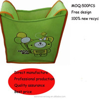 recyclable non woven shoulder strap book bag