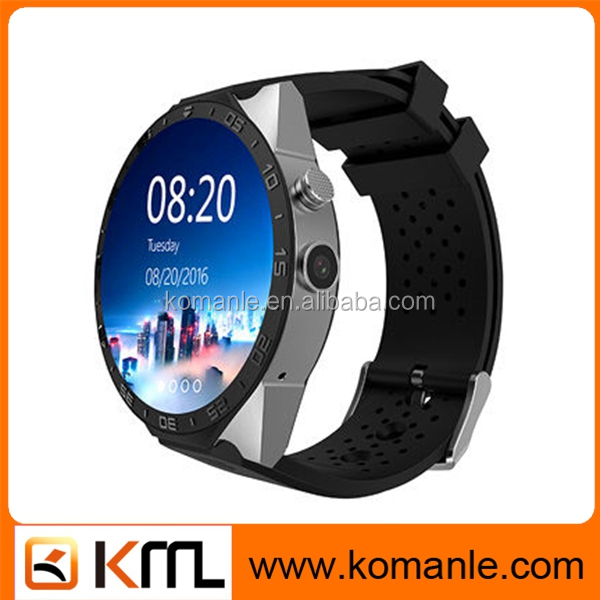 Fashion style Kw88 Mtk 6580 Quad Core 3G Wifi Camera Girls Mobile Watch Phone