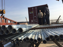 hot galvanized steel pipe with threads